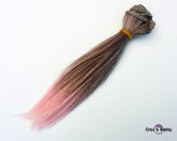 Cheveux Gris/Roses Raides