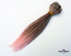 Cheveux Raides Bicolore Synthétiques 15cmx100cm