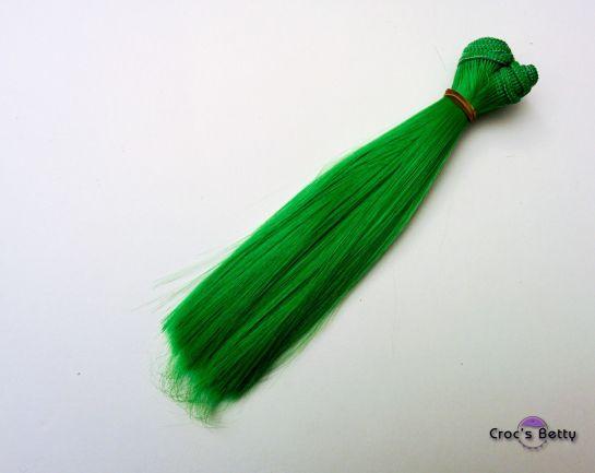 Cheveux Vert Raides - Cheveux Raides Synthétiques 15cmx100cm