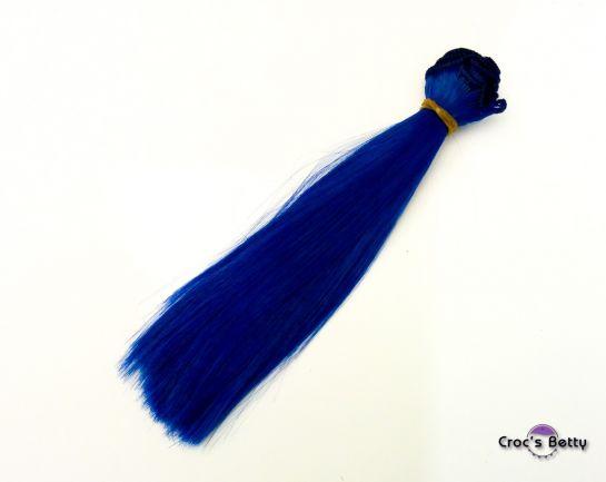 Cheveux Bleu Foncé Raides - Cheveux Raides Synthétiques 15cmx100cm