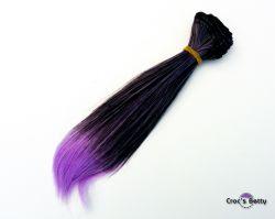 Cheveux Noirs/Violets Raides