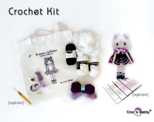 Kit Crochet - Brownie Gothique