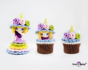 Unicorn Cupcake Doll
