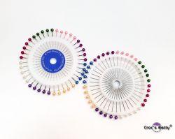 Carrousel d'épingles à tête perlée x2