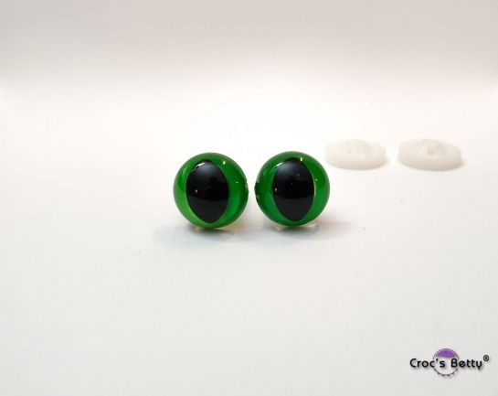 Safety Cat Green Eyes - 12mm (2 pairs)