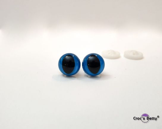 Safety Cat Blue Eyes - 12mm (2 pairs)