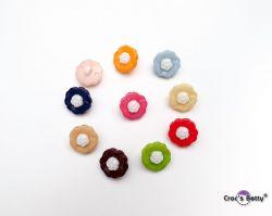 Boutons Fleur x10 - Mix