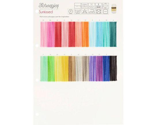 Sunkissed Scheepjes Color Chart