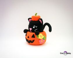 Pumpkin Cat Pot
