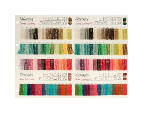 Stone Washed - River Washed XL Scheepjes Color Chart