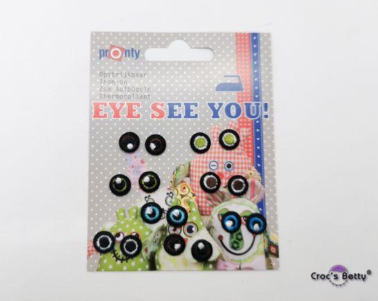 Applique Eyes 10mm (x8)