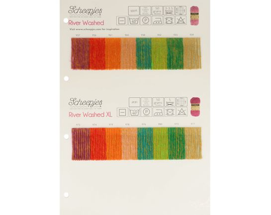 River Washed Scheepjes Color Chart