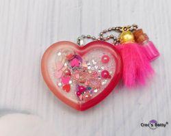 Double Pink Heart Shaker (single piece)