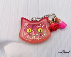 Double Pink Cat Shaker (single piece)