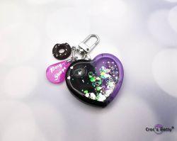 Dark Purple Heart Shaker (single piece)