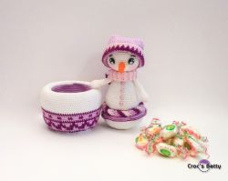 Winter the Snowman Pot