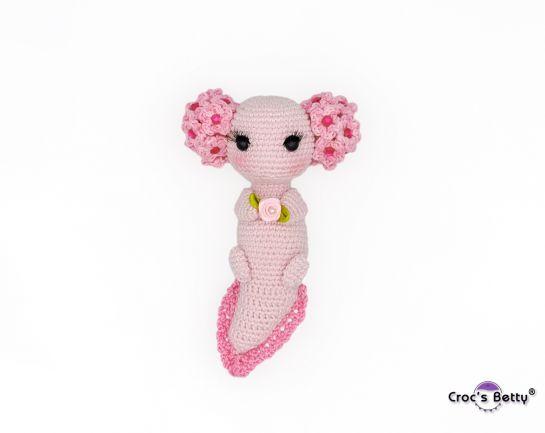Leia the Flower Axolotl