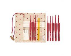 Set Tulip Etimo Red Crochet Hooks