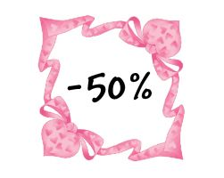 50% off each month! ^^